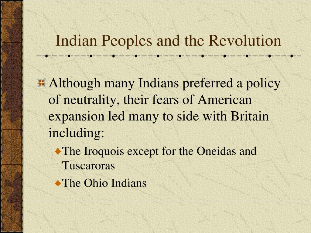 Indian Peoples and the Revolution