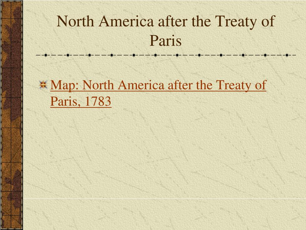 North America after the Treaty of Paris