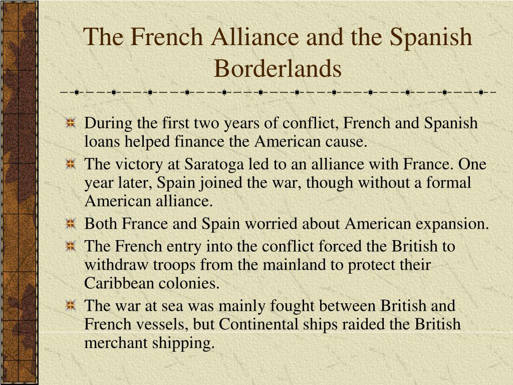 The French Alliance and the Spanish Borderlands