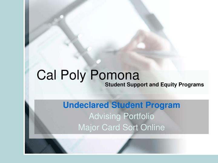 Cal poly pomona student support and equity programs