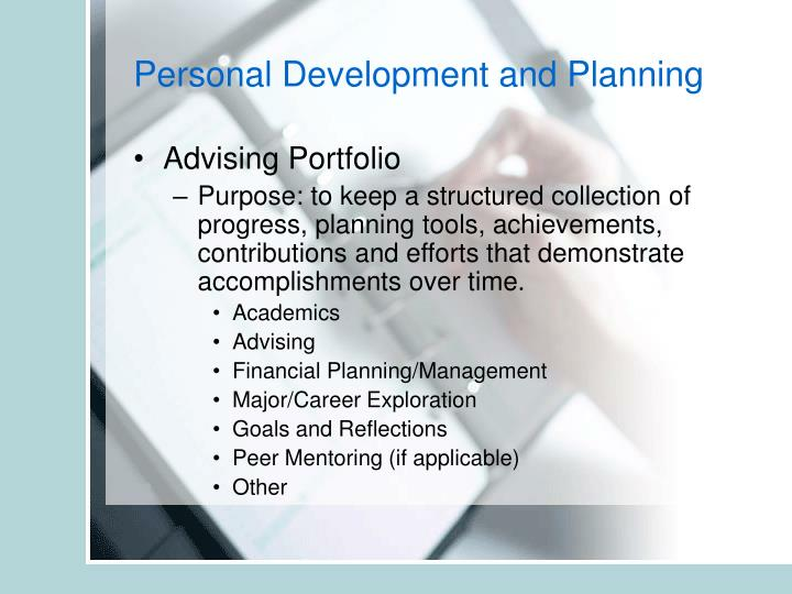 Personal Development and Planning