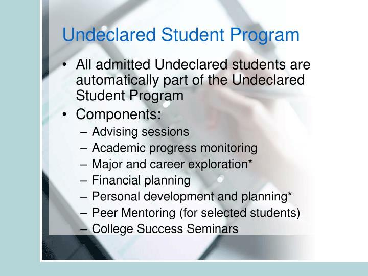 Undeclared Student Program