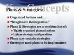 plans strategies