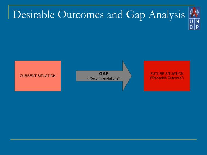 Desirable Outcomes and Gap Analysis