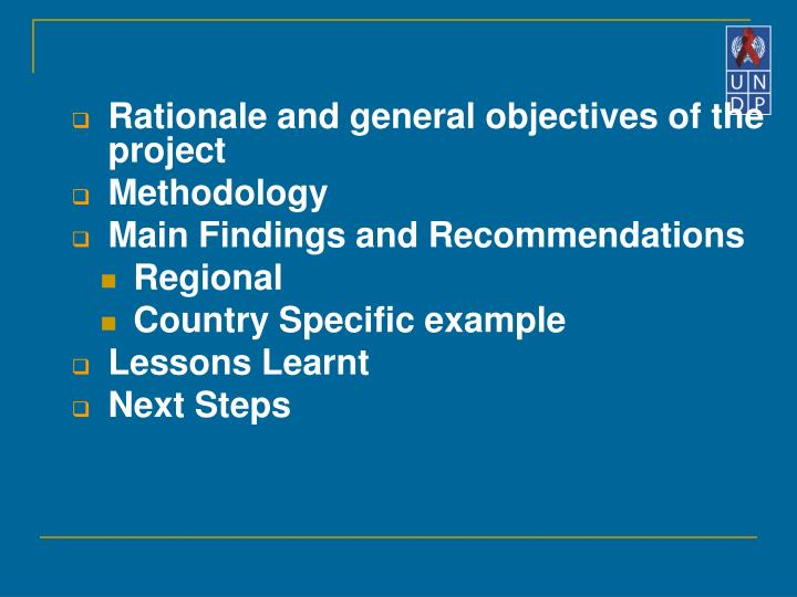 Rationale and general objectives of the project