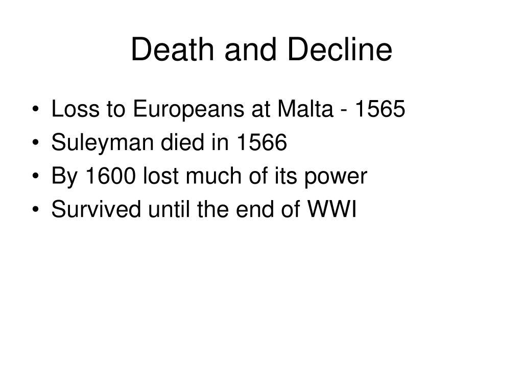 Death and Decline