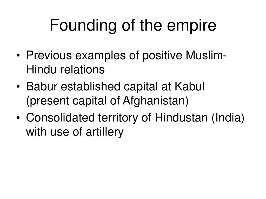 Founding of the empire