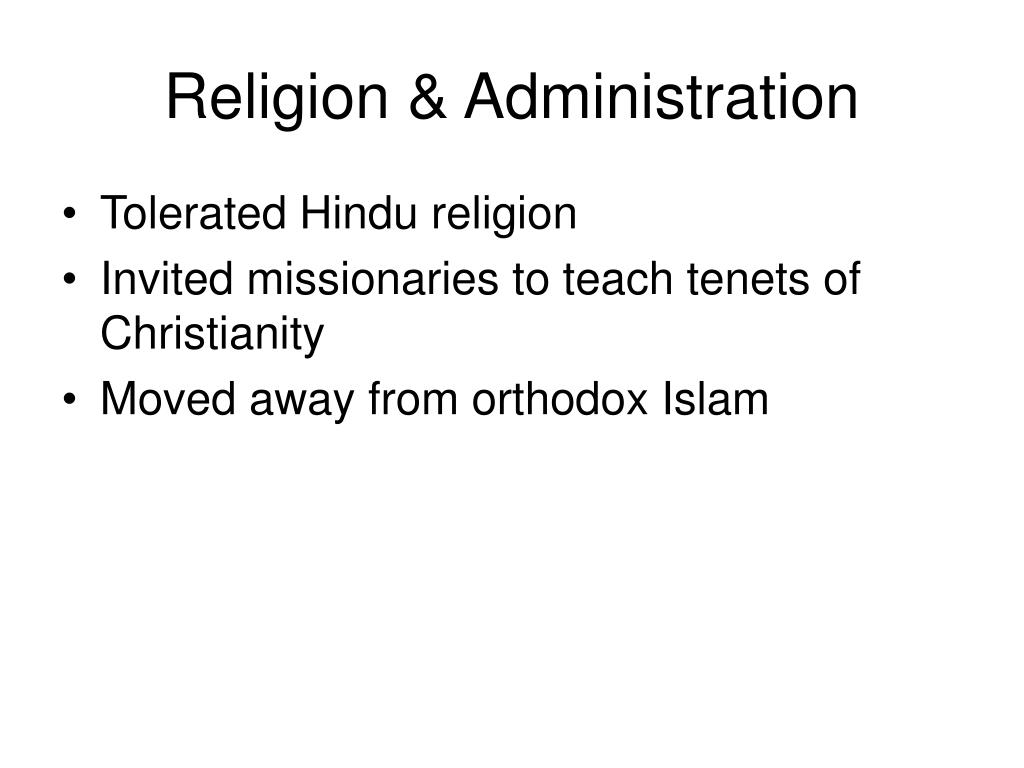 Religion & Administration
