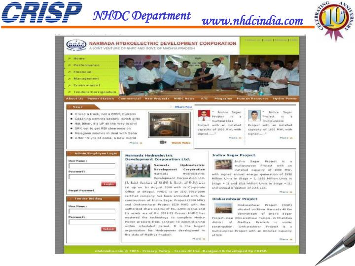 NHDC Department