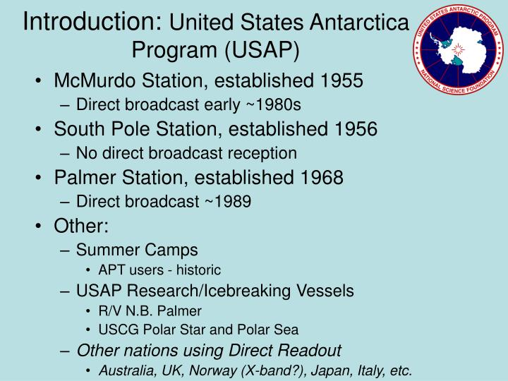 Introduction united states antarctica program usap