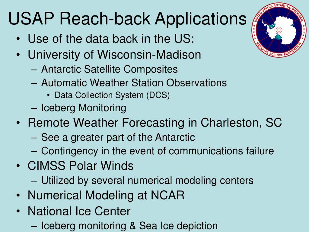 USAP Reach-back Applications