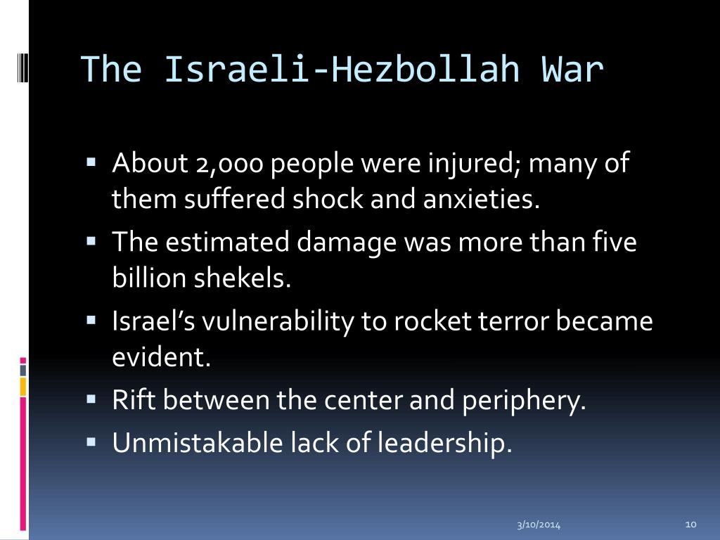The Israeli-Hezbollah War