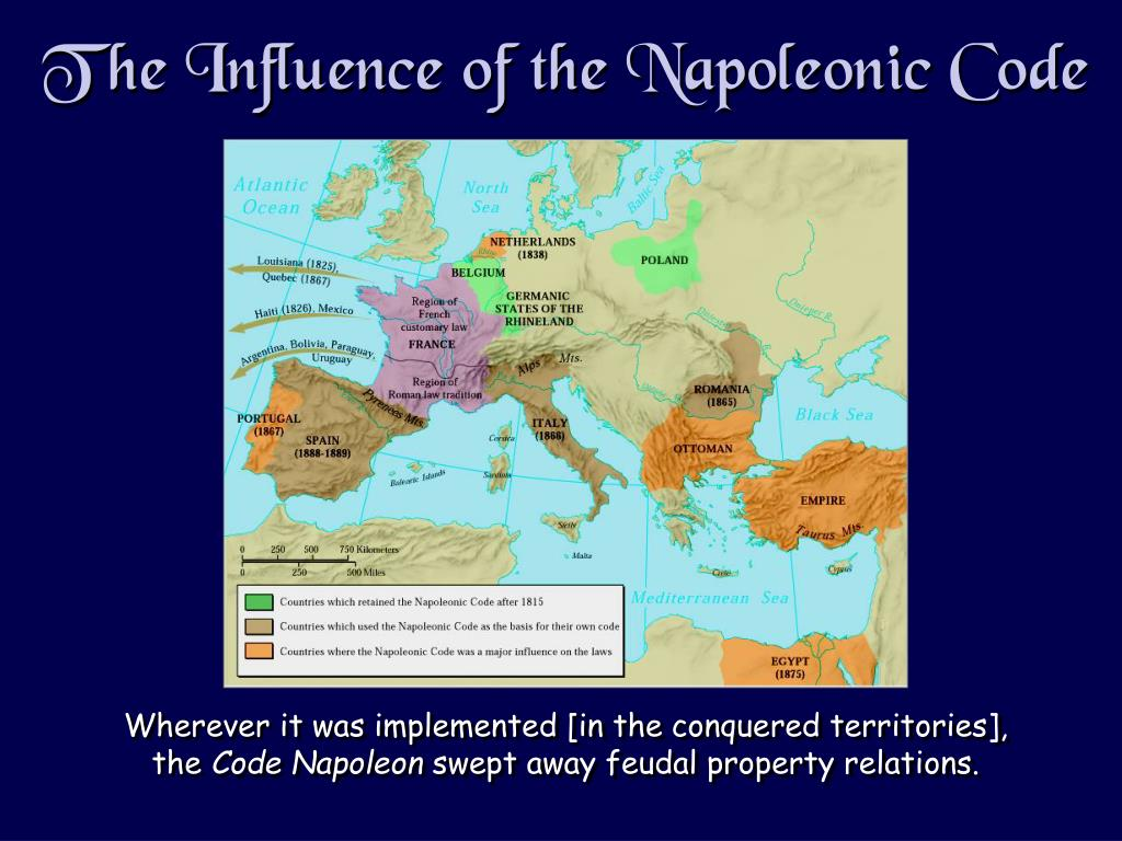 The Influence of the Napoleonic Code
