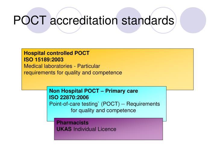 POCT accreditation standards