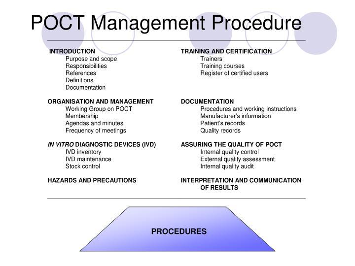 POCT Management Procedure