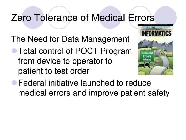 Zero Tolerance of Medical Errors