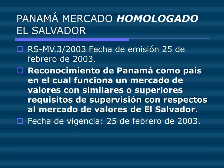 PANAMÁ MERCADO