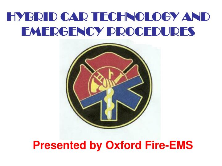Hybrid car technology and emergency procedures l.jpg