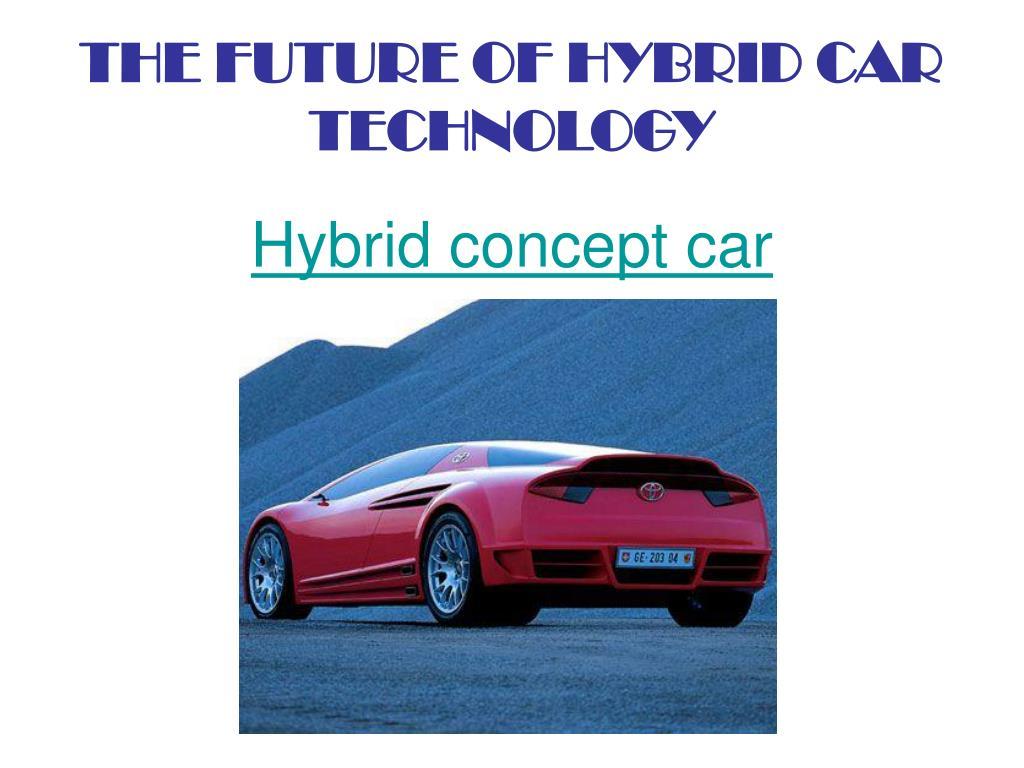 Hybrid concept car