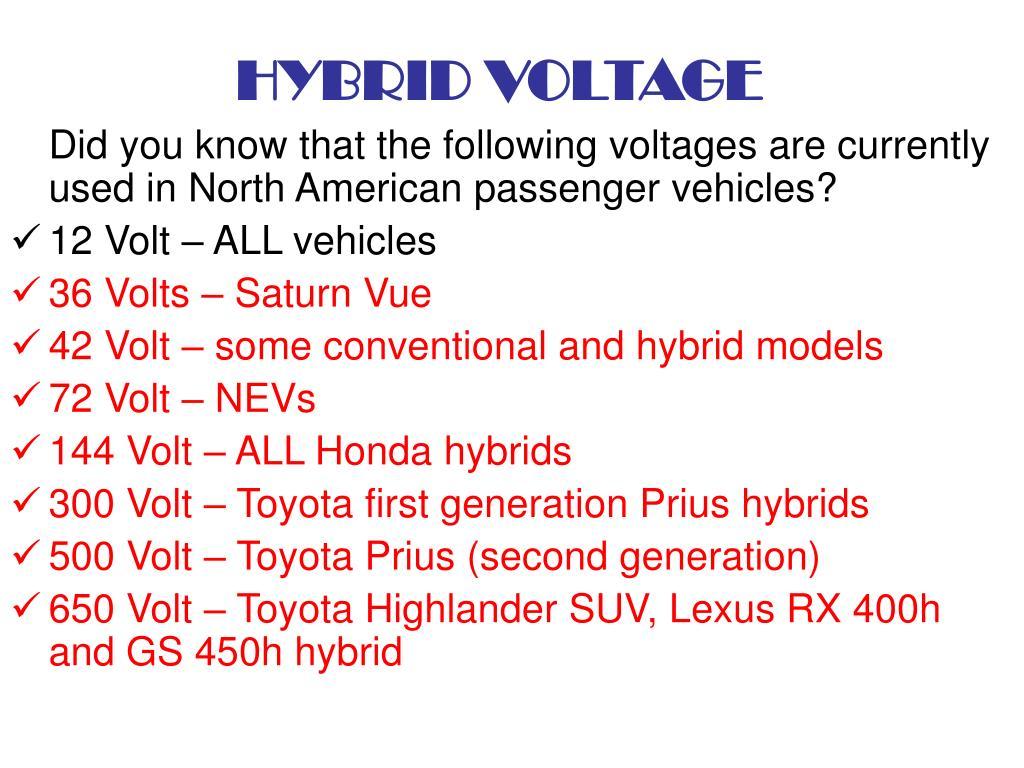 HYBRID VOLTAGE