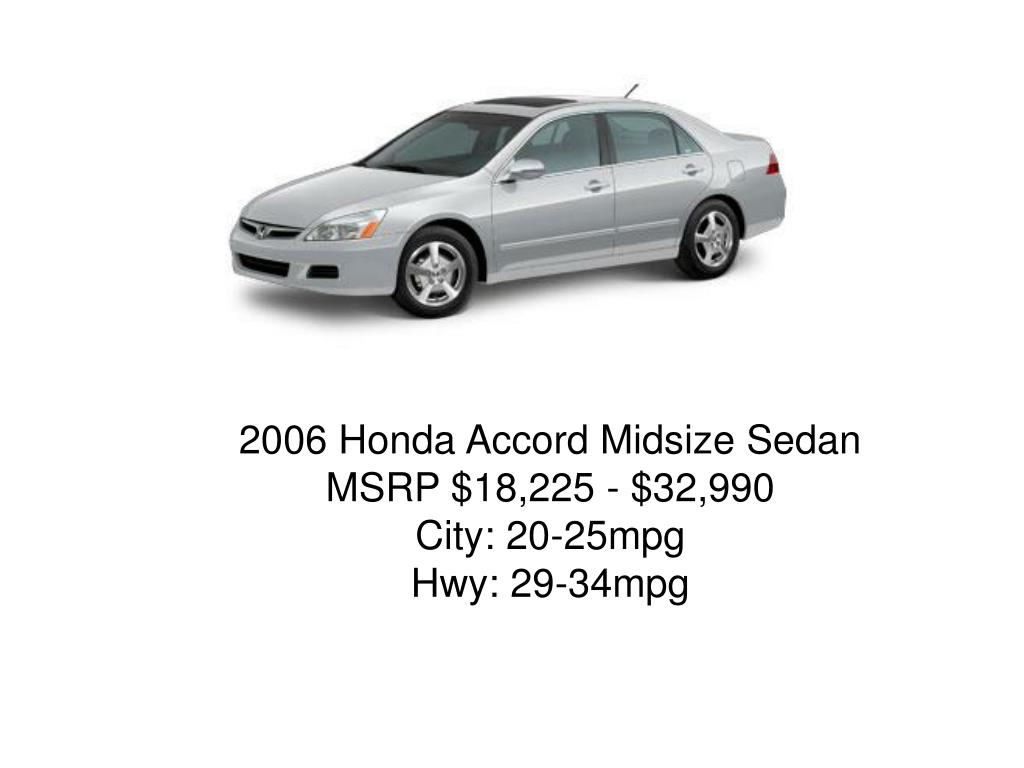 2006 Honda Accord Midsize Sedan