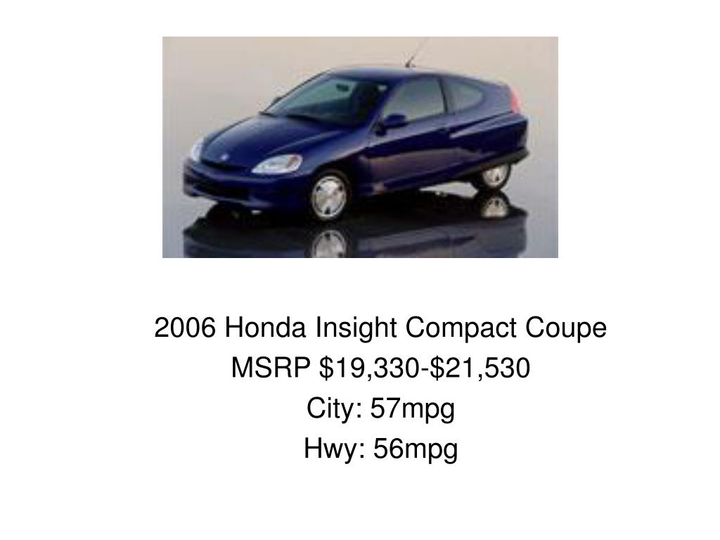 2006 Honda Insight Compact Coupe