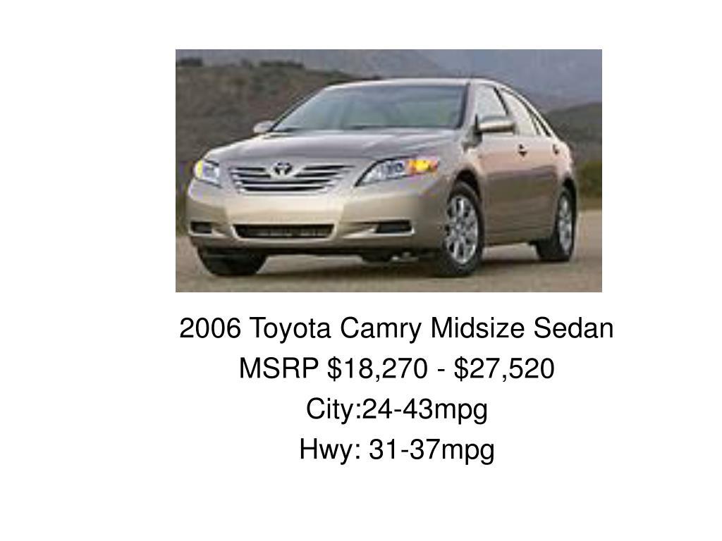2006 Toyota Camry Midsize Sedan