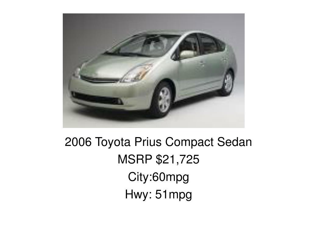 2006 Toyota Prius Compact Sedan