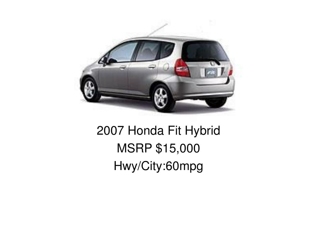 2007 Honda Fit Hybrid