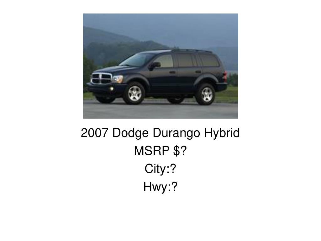 2007 Dodge Durango Hybrid