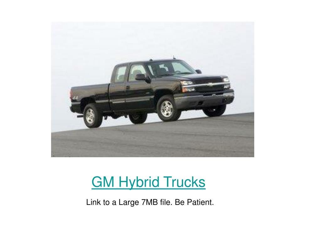 GM Hybrid Trucks