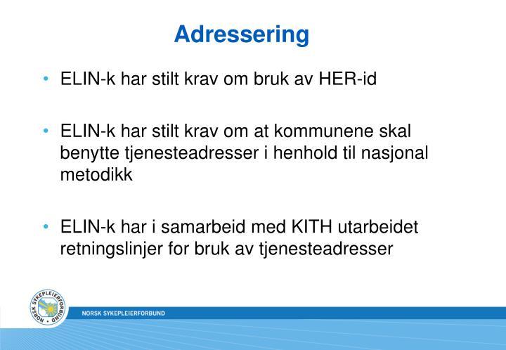Adressering