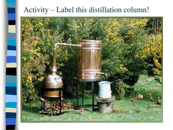 Activity – Label this distillation column!