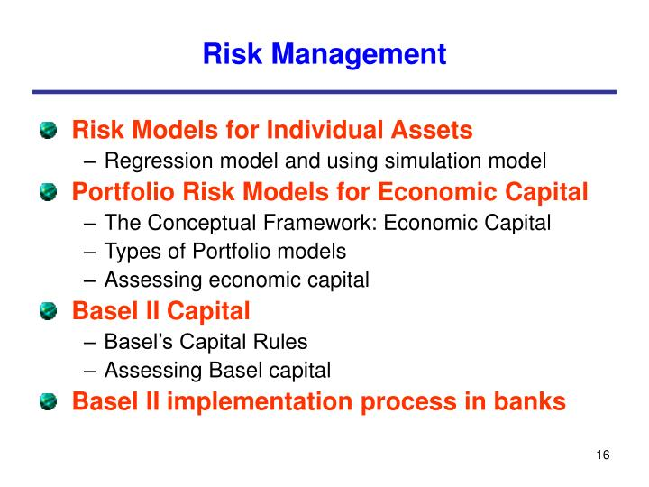 risk managment in commercial banks Regulation on risk management in commercial banks chapter i introduction general provisions for application of risk management article 1 concept of risk and essence of its application.