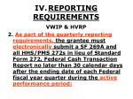iv reporting requirements19