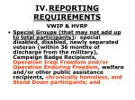 iv reporting requirements30