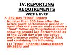 iv reporting requirements37