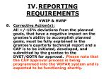 iv reporting requirements41