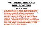 vii printing and duplicating52