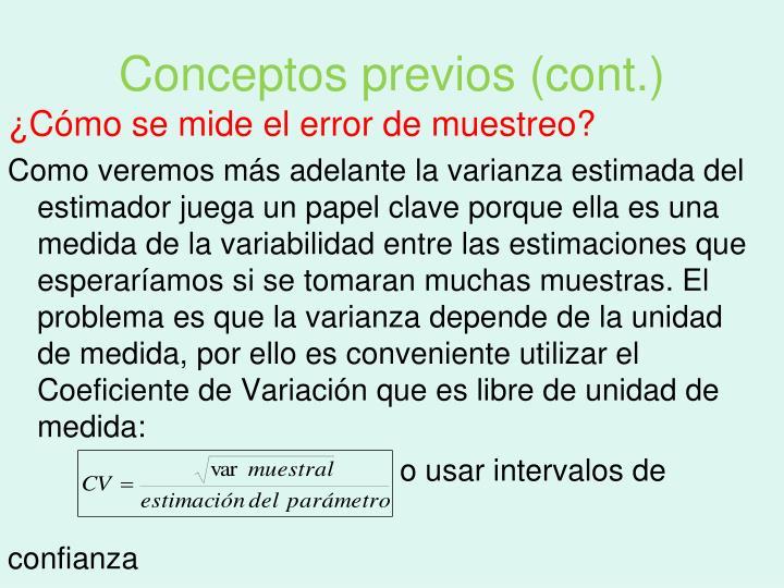 Conceptos previos (cont.)