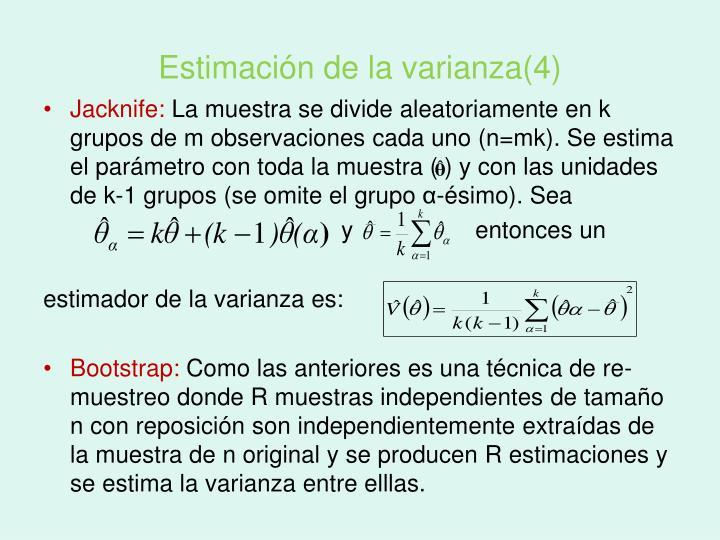 Estimación de la varianza(4)