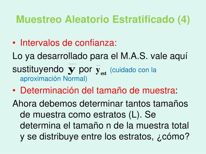 Muestreo Aleatorio Estratificado (4)