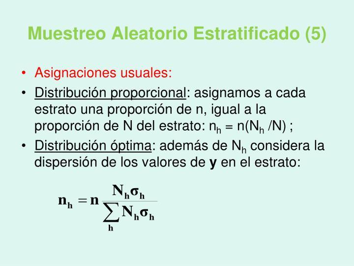 Muestreo Aleatorio Estratificado (5)