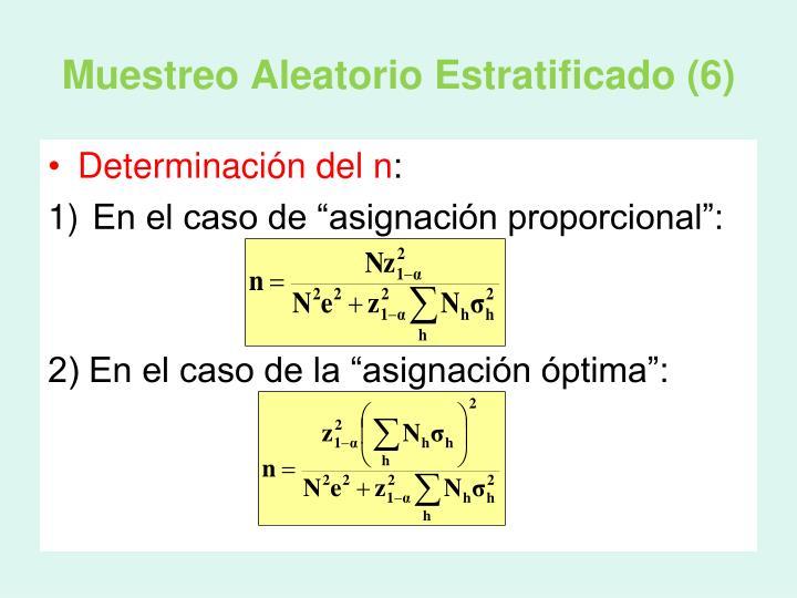 Muestreo Aleatorio Estratificado (6)