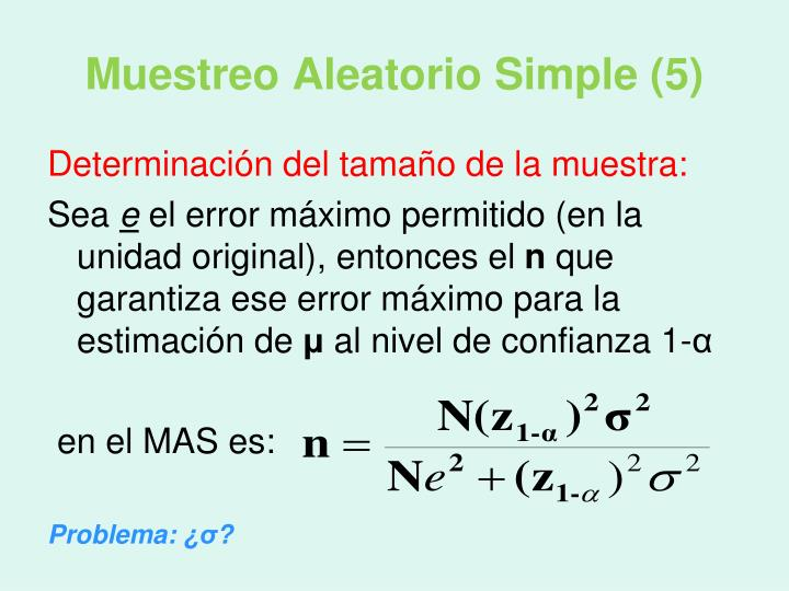 Muestreo Aleatorio Simple (5)