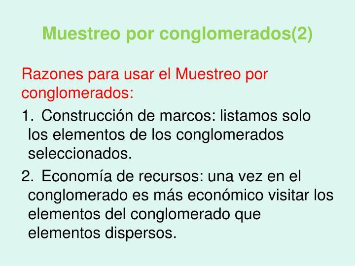 Muestreo por conglomerados(2)