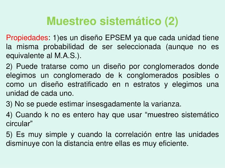 Muestreo sistemático (2)