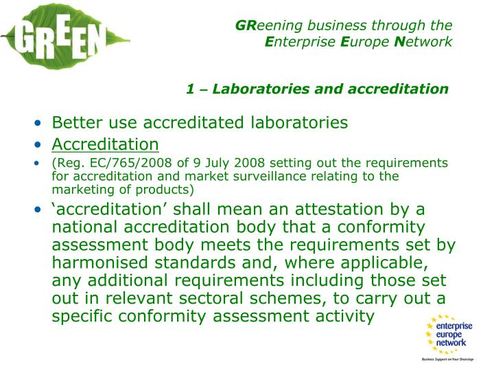 Better use accreditated laboratories