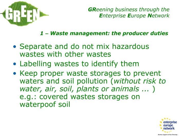 Separate and do not mix hazardous wastes with other wastes