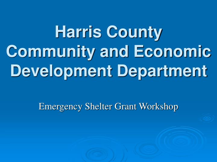 Harris county community and economic development department